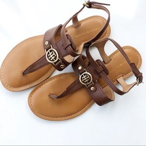 Tommy Hilfiger Tan Strappy Sandals